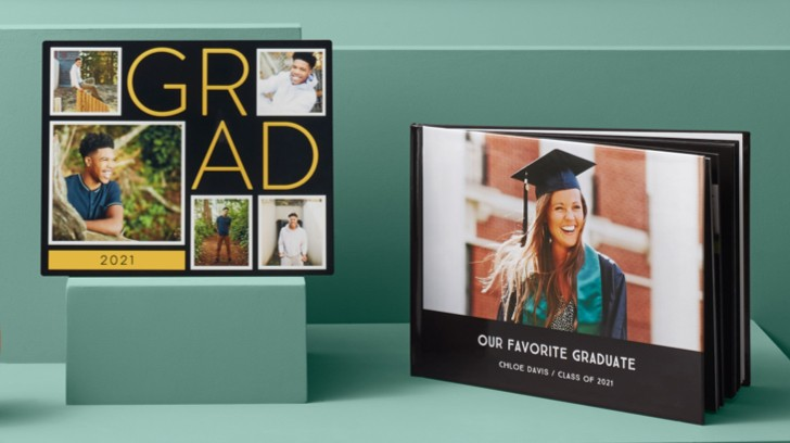 Celebrate graduation with graduation photo books to store your favorite memories.