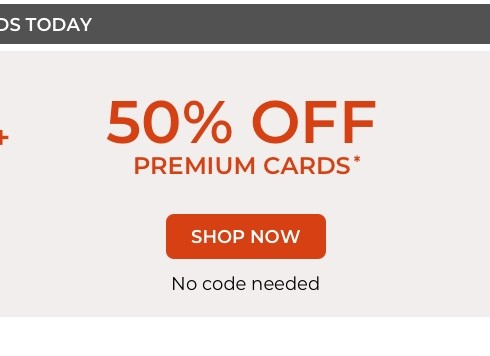 Unlimited Free Pages + 50% off premium cards