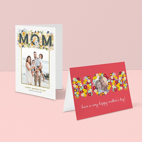Custom happy mothers day folded cards