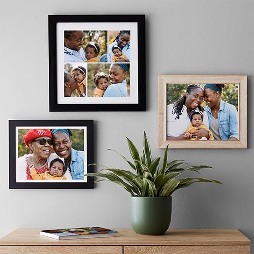 Framed wall art custom prints family