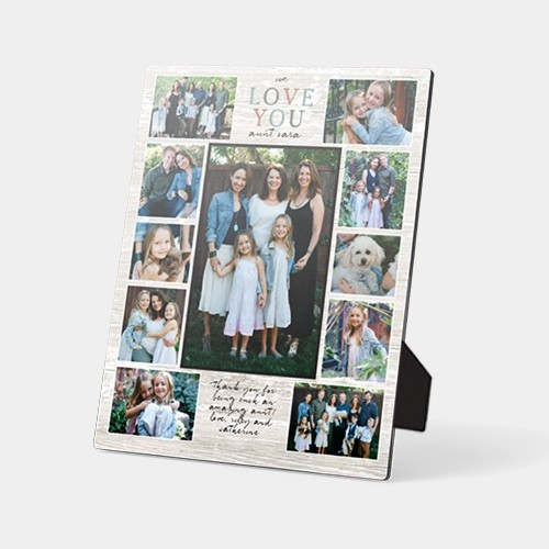 Mothers day desktop plaque family photo collage