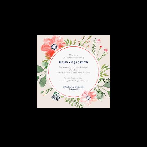 custom bridal shower invitations in premium cardstock paper or pearl shimmer cardstock