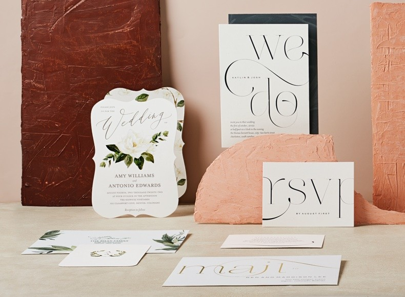 personalized wedding stationery and invitations with wedding programs