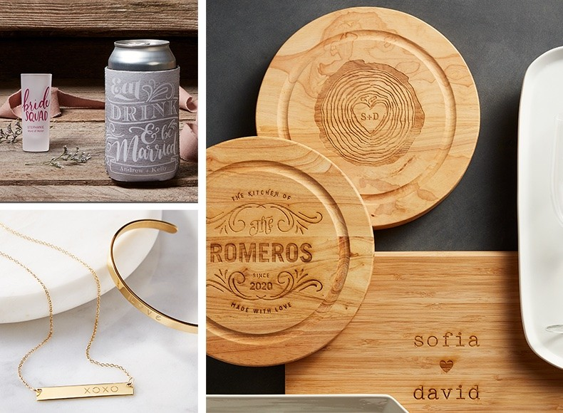 custom traditional and personalized wedding gifts and keepsakes