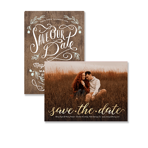 custom and personalized save the date cards for your wedding