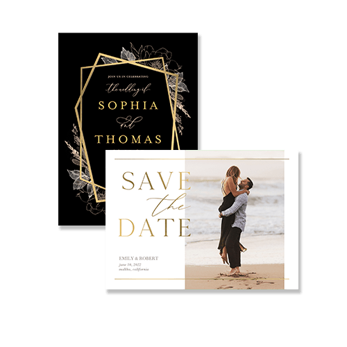 classic, rustic and modern wedding invitation cards and announcements