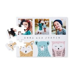 Custom jigsaw puzzles made with uploaded photos to Shutterfly