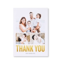 Personalized thank you cards made with family photos