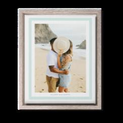 Freeze frame custom wall art with photo of a couple on the beach
