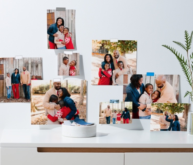 Prints from stored photos