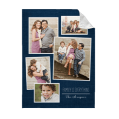 Titly collage personalized fleece photo blanket made with family photos