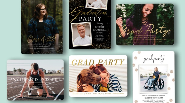 Luxe details like lined envelopes and metallic details bring your grad cards to life.