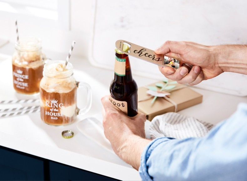 Great gifts for dads like personalized bar accessories will complete his collection.