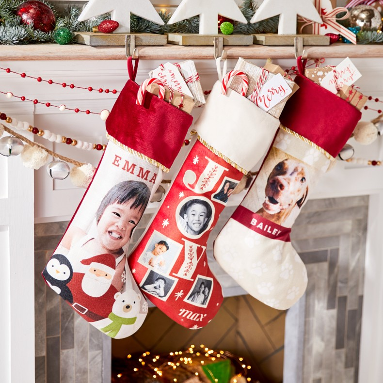 Personalized Christmas gifts like custom stockings are classic Christmas gift ideas.