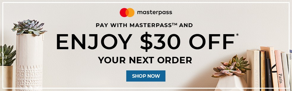 Pay With Masterpass And Enjoy $30 Off Your Next Order