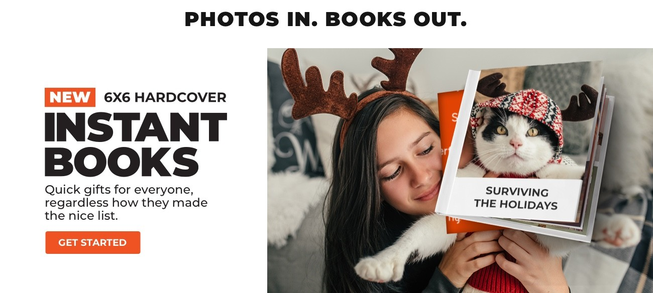 NEW 6x6 HARDCOVER INSTANT BOOKS - GET STARTED