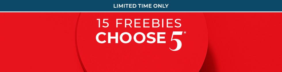 15 Freebies Choose 5*