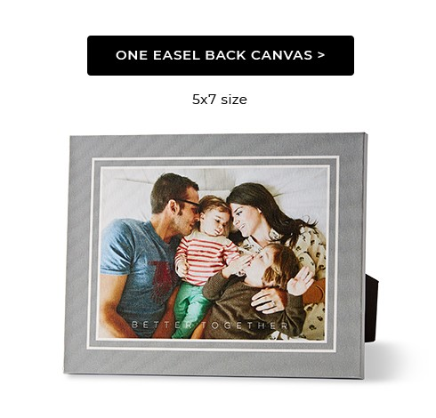 One Easel Back Canvas