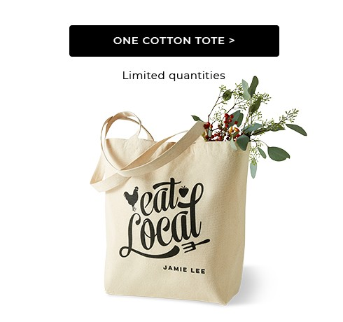 One Cotton Tote Bag
