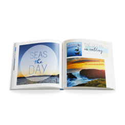 beach travel photo book