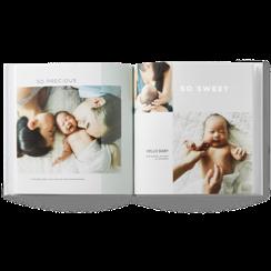 modern baby photo book