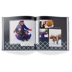 modern black baby photo book