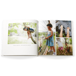 modern white baby photo book