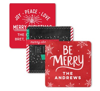 Gift tags and custom stickers for holiday cards and presents