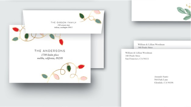 Custom envelope designs and plain envelopes with free address printed