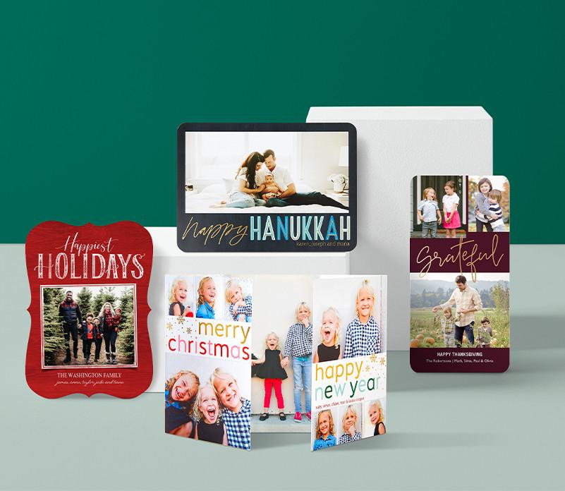 Say Happy Thanksgiving, Feliz Navidad, Happy Hanukkah, and Happy New Year with season's greetings cards from Shuuterfly.