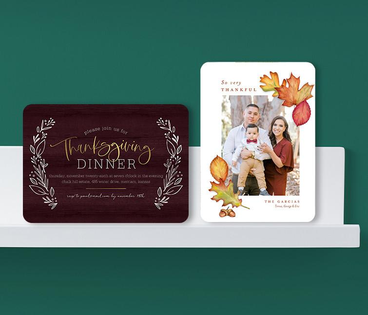 Thanksgiving Invitations & Cards