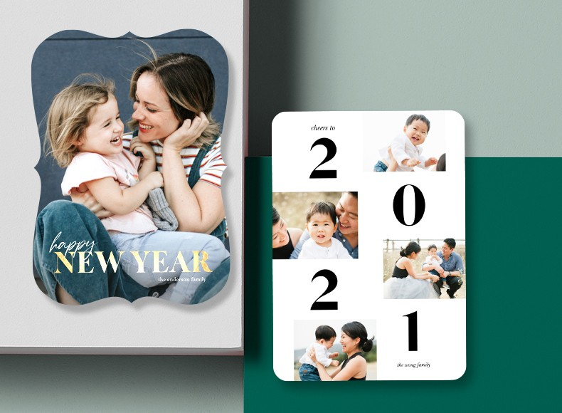 Wish family and friends a healthy, happy, and prosperous New Year with custom New Year's cards this holiday season.