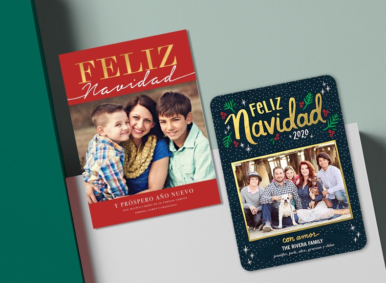 Celebrate the holidays with custom Tarjetas de Navidad that spread holiday cheer.