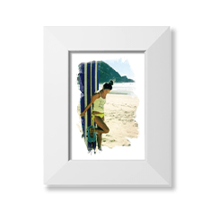 Brushed moments art print with white frame