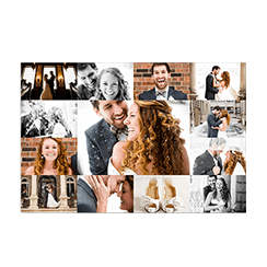 Photo gallery grid print with personalized wedding photos