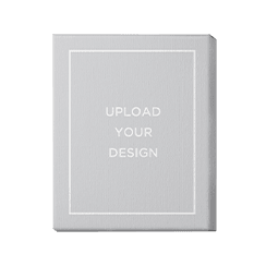 Upload your own wall art design with white photo frame