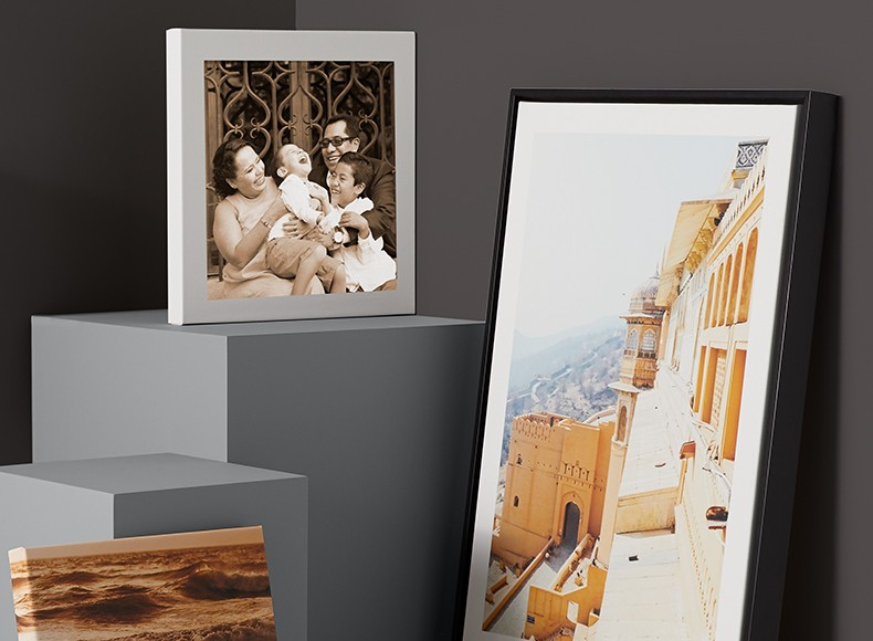 Easy canvas photo prints in custom photo print sizes framed for wall art