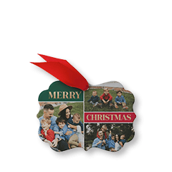 Contemporary Greetings custom metal Christmas ornament