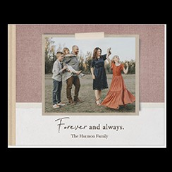 Everyday Neutrals custom photo book style with a picture of a family on the cover