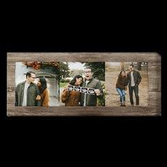 Panoramic canvas print with photo of countryside couple photos