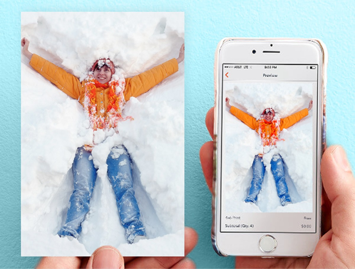 Make a custom holiday card on a mobile device with your photos