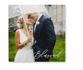 stackable wedding photo tiles as personalized home decor