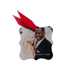 make your own customized photo ornaments with wedding photos