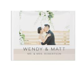 personalized wedding day photo books with custom wedding photos
