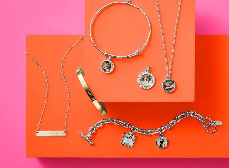 Personalized and engraved jewelry make wonderful Valentine's Day gifts.