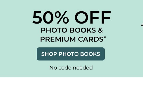 50% off HCPB & Premium Cards + up to 50% off