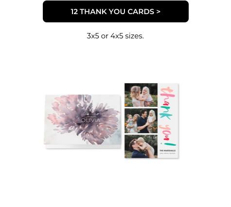 12 Thank You Cards
