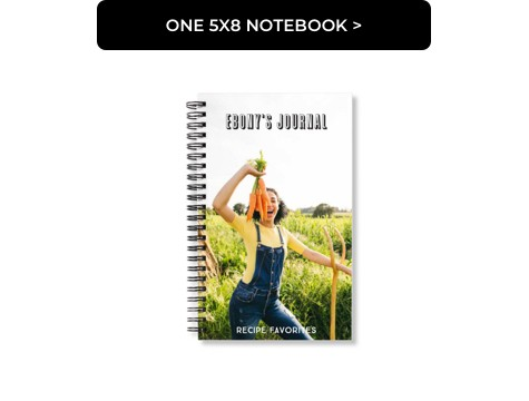 One 5x8 Notebook