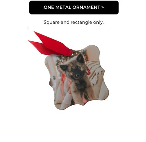 One Metal Ornament