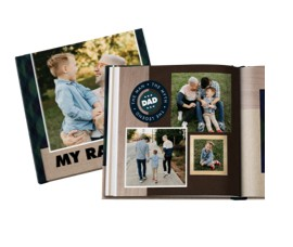 Fill photo books with memories for thoughtful Father's Day gifts.